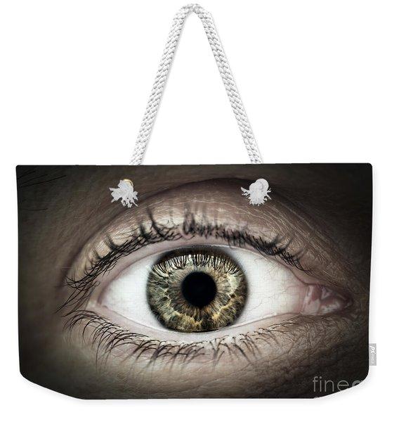 Human Eye Macro Weekender Tote Bag