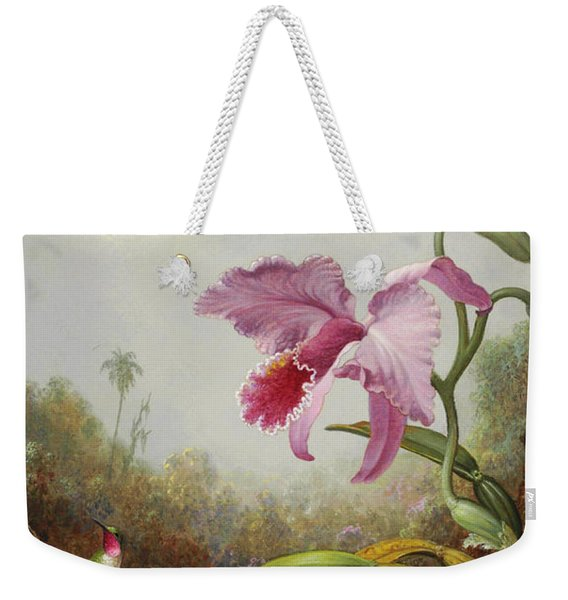 Hummingbird And Two Types Of Orchids Weekender Tote Bag