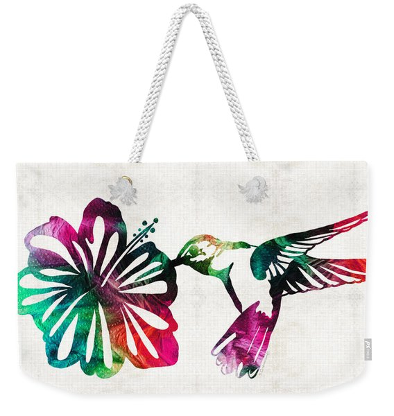 Hummingbird Art - Tropical Chorus - By Sharon Cummings Weekender Tote Bag