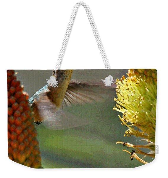Hummingbird Feeding Weekender Tote Bag