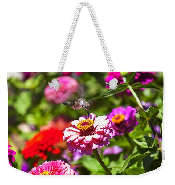 Hummingbird Flight Weekender Tote Bag