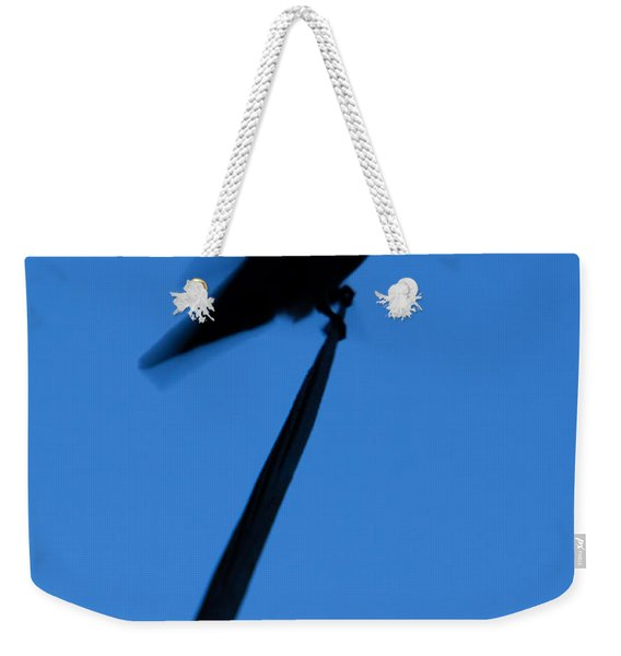 Weekender Tote Bag featuring the photograph Hummingbird Silhouette by John Wadleigh