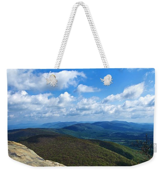 Weekender Tote Bag featuring the photograph Humpback Rocks View North by Jemmy Archer