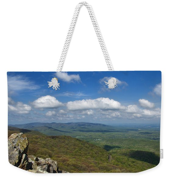 Weekender Tote Bag featuring the photograph Humpback Rocks View South by Jemmy Archer
