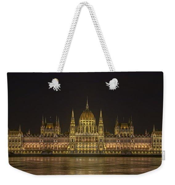 Hungarian Parliament Building Night Weekender Tote Bag