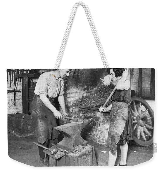 Husband & Wife Blacksmiths Weekender Tote Bag