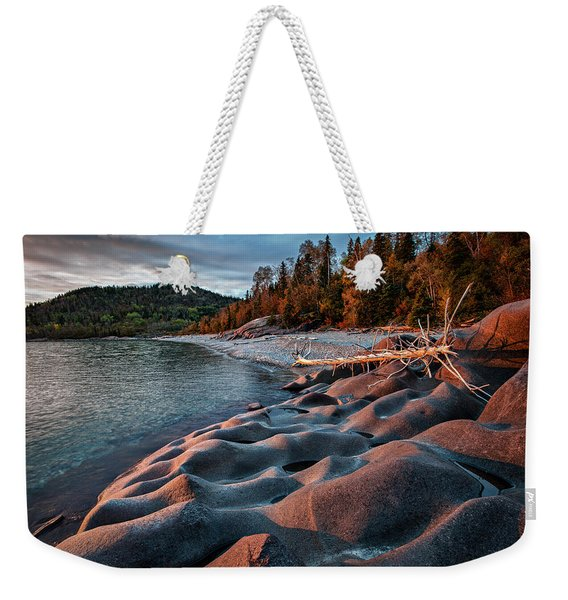 Weekender Tote Bag featuring the photograph Hush by Doug Gibbons