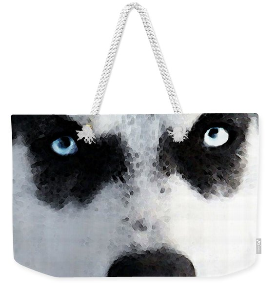 Husky Dog Art - Bat Man Weekender Tote Bag