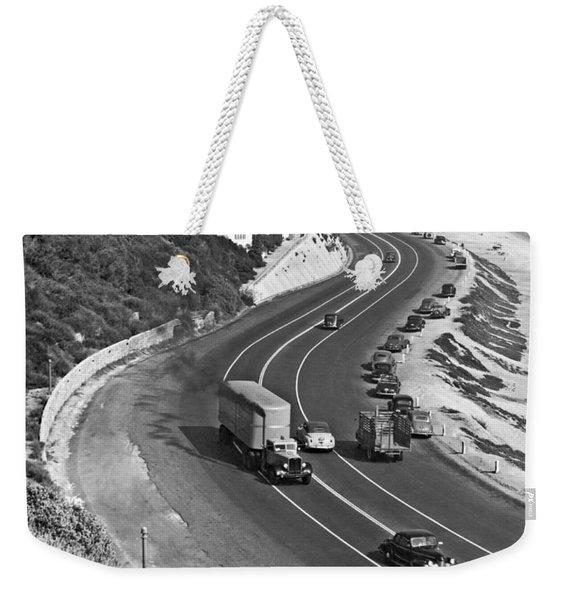 Hwy 101 In Southern California Weekender Tote Bag