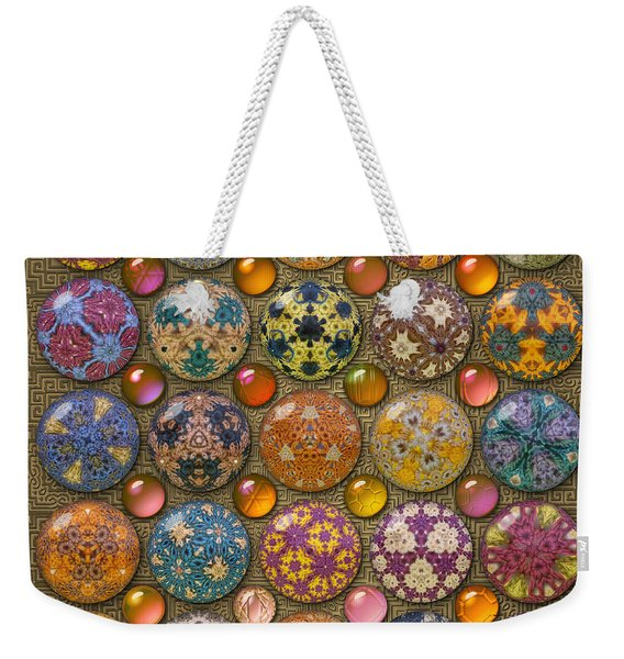 Hyperbolicrochet Kaleidoscope Quilt Weekender Tote Bag