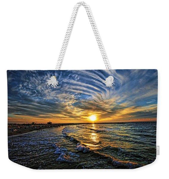 Hypnotic Sunset At Israel Weekender Tote Bag