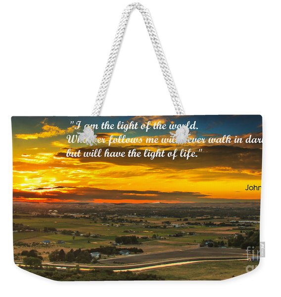 I Am The Light Weekender Tote Bag