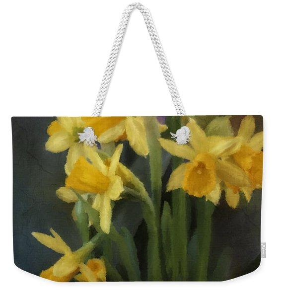 I Believe - Flower Art Weekender Tote Bag
