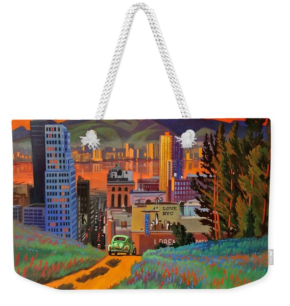 I Love New York City Jazz Weekender Tote Bag