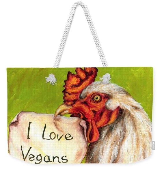 I Love Vegans Weekender Tote Bag