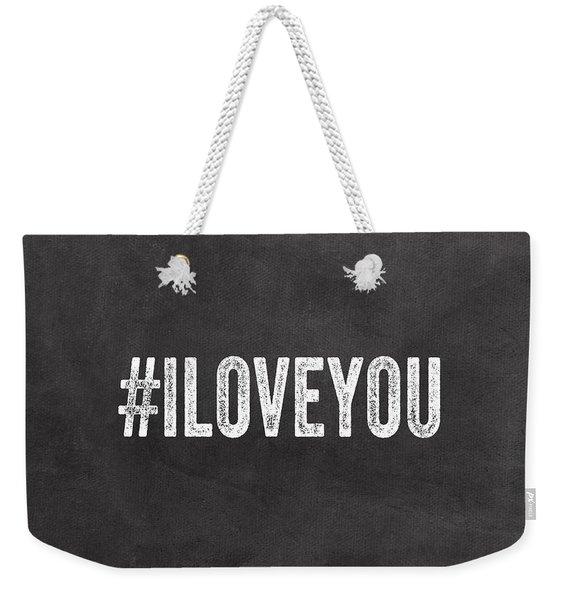 I Love You - Greeting Card Weekender Tote Bag