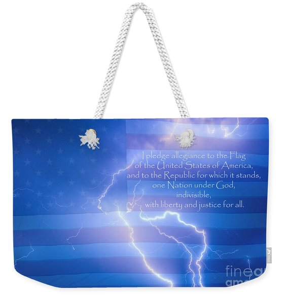 I Pledge Allegiance To The Flag  Weekender Tote Bag