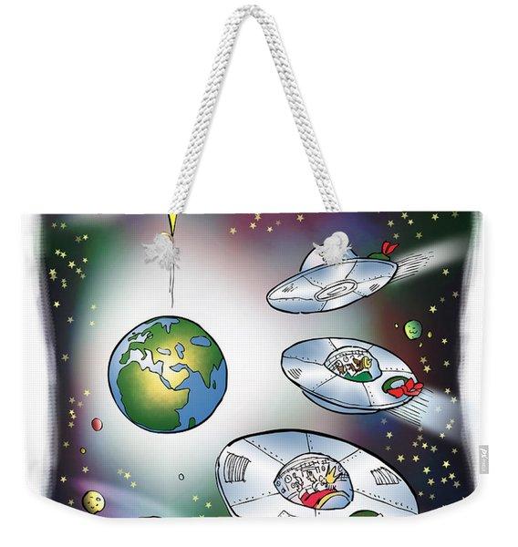 We Three Spacemen Weekender Tote Bag