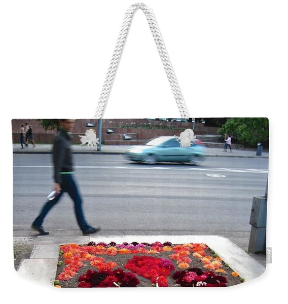 Weekender Tote Bag featuring the photograph I See Flowers For You Everywhere by Mary Lee Dereske