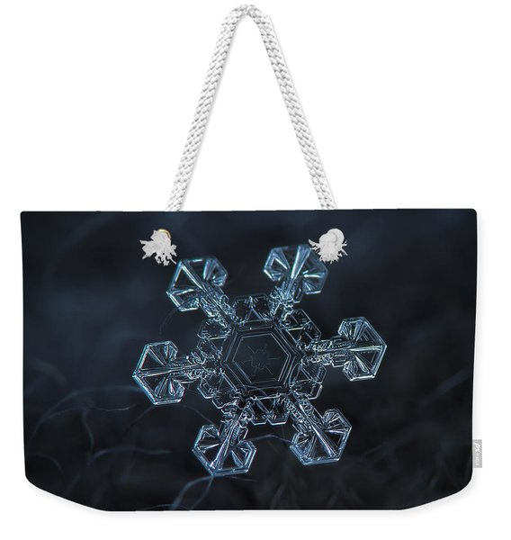 Snowflake Photo - Ice Crown Weekender Tote Bag