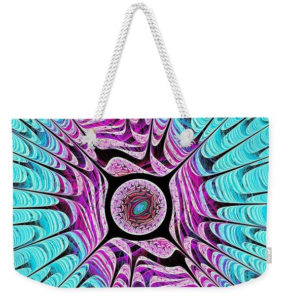 Ice Dragon Eye Weekender Tote Bag