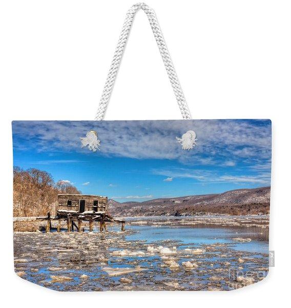 Ice Shack Weekender Tote Bag