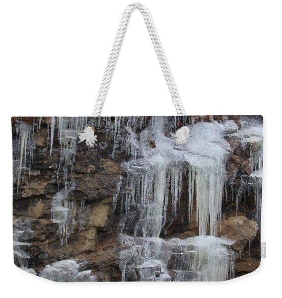 Icicle Cliffs Weekender Tote Bag