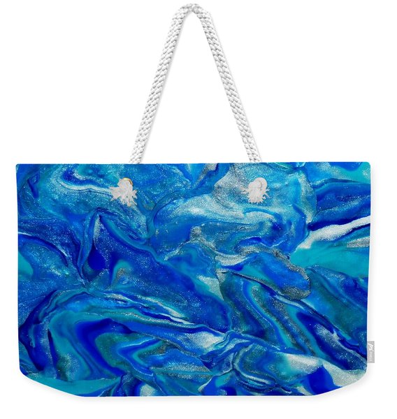 Icy Blue Weekender Tote Bag