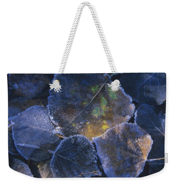 Icy Leaves Weekender Tote Bag