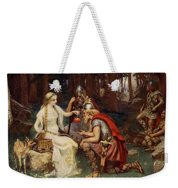 Idun And The Apples, Illustration Weekender Tote Bag