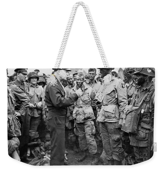 Ike With D-day Paratroopers Weekender Tote Bag