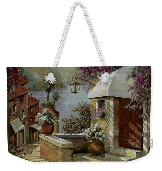 Il Lampione Oltre La Tenda Weekender Tote Bag