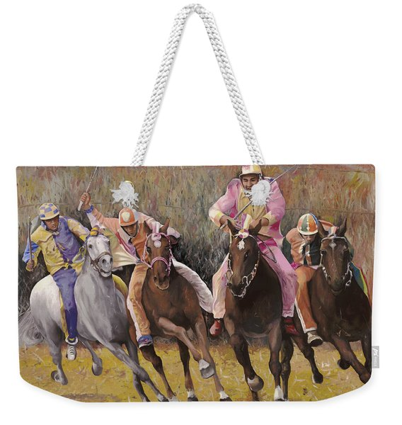 il palio dell'Assunta Weekender Tote Bag