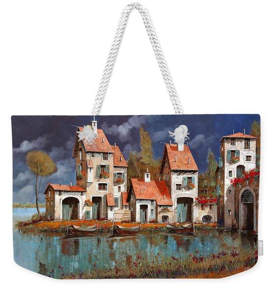 Il Villaggio Sul Lago Weekender Tote Bag
