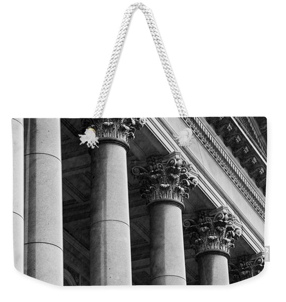 Illinois Capitol Columns B W Weekender Tote Bag