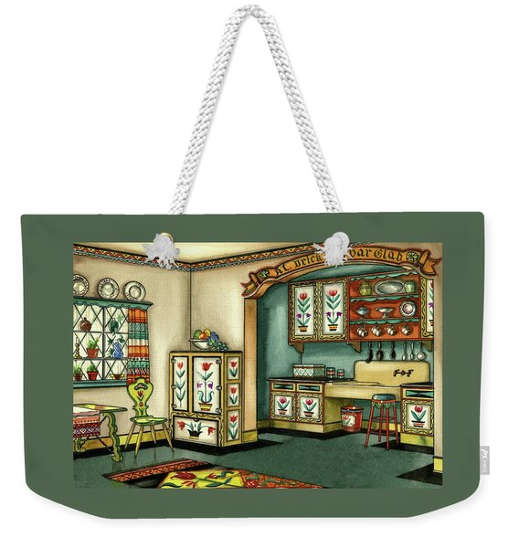 Illustration Of A Colorful Swedish Kitchen Weekender Tote Bag