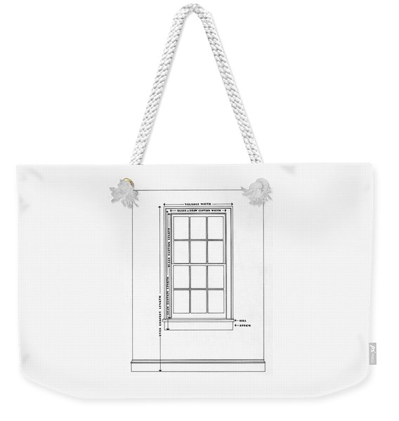 Illustration Of A Window Weekender Tote Bag