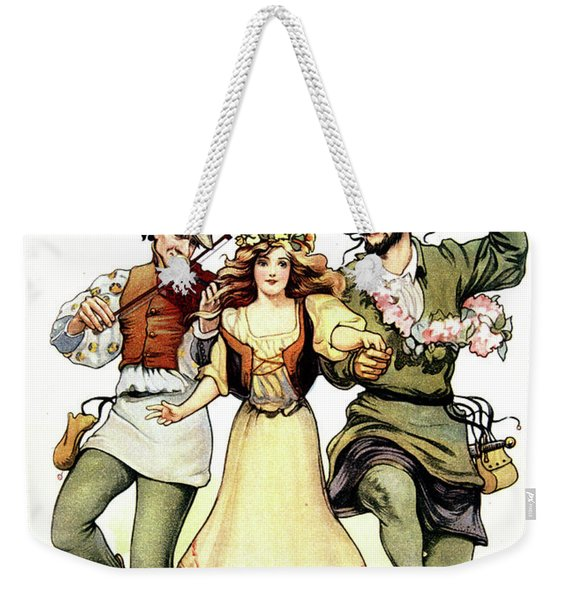 Illustration Of Medieval May Day Folk Weekender Tote Bag