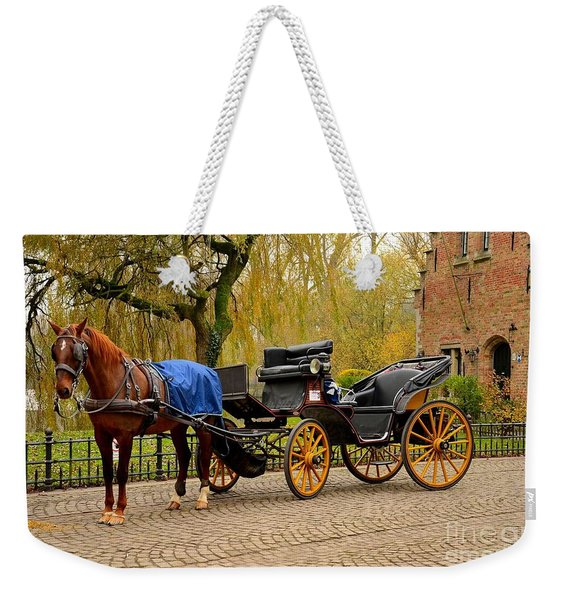 Immaculate Horse And Carriage Bruges Belgium Weekender Tote Bag
