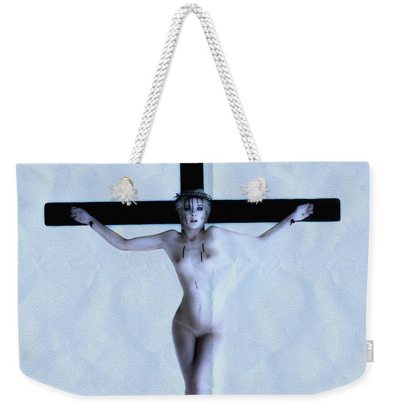 Immerse Crucifix Weekender Tote Bag