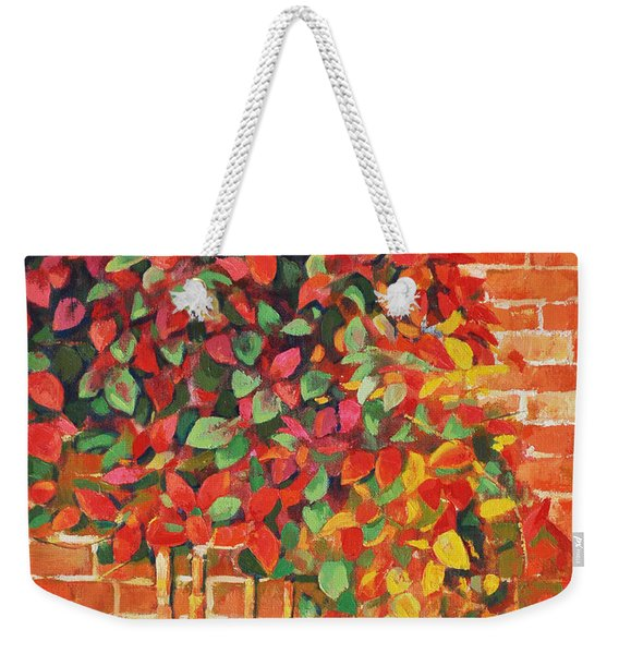 Impression On The Wall Weekender Tote Bag