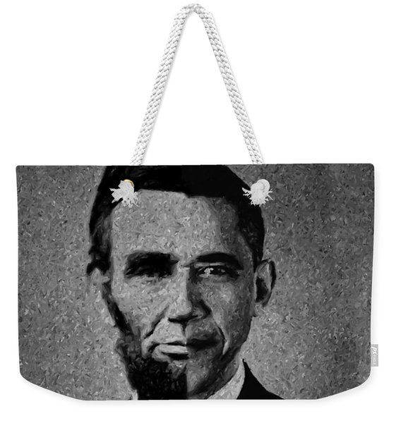 Impressionist Interpretation Of Lincoln Becoming Obama Weekender Tote Bag