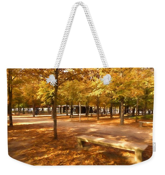 Impressions Of Paris - Tuileries Garden - Come Sit A Spell Weekender Tote Bag