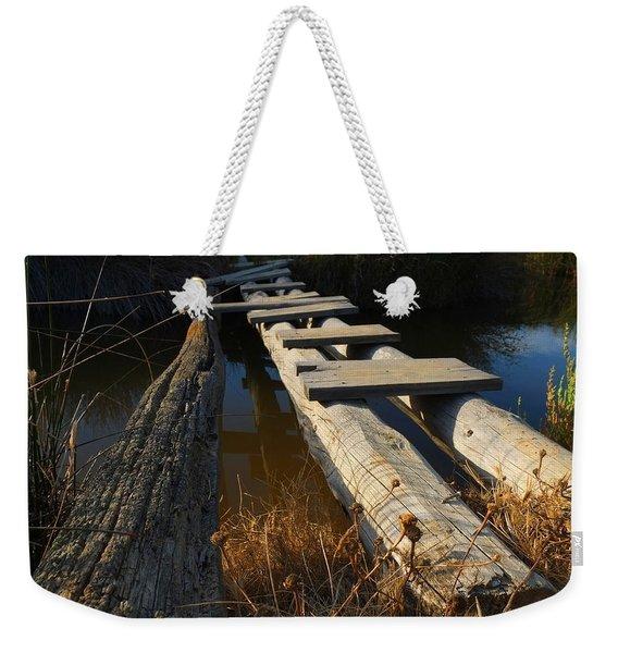 Improvised Wooden Bridge Weekender Tote Bag