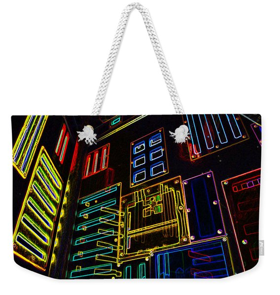 In A Neon-box Weekender Tote Bag