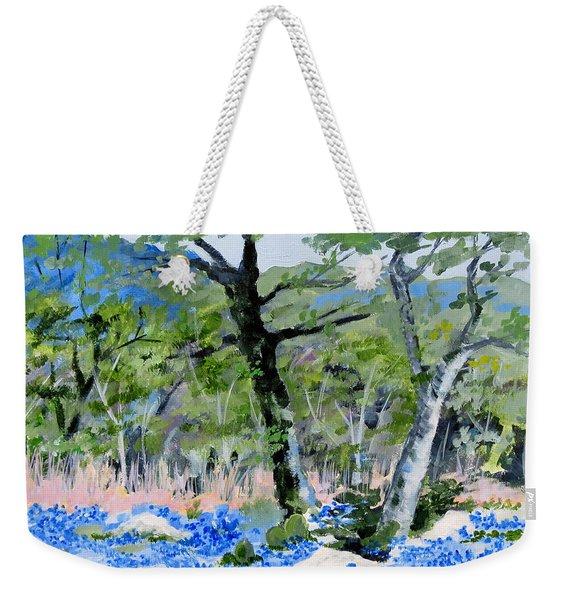 In April-texas Bluebonnets Weekender Tote Bag