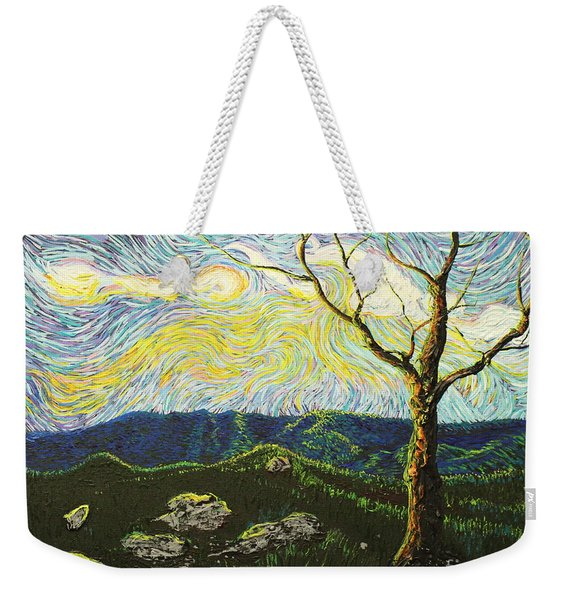 In Between A Rock And A Heaven Place Weekender Tote Bag