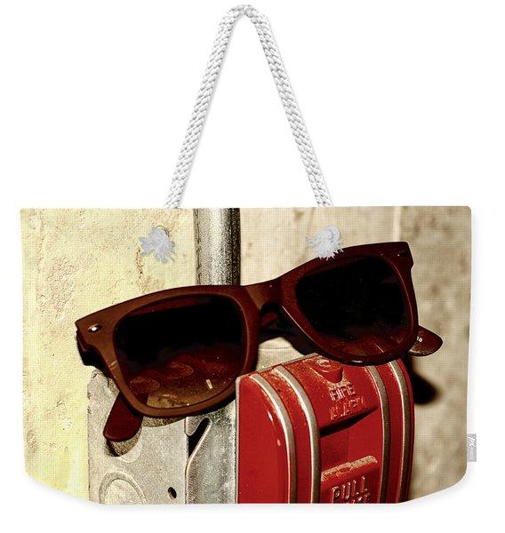 In Case Of Fire Grab Shades Weekender Tote Bag