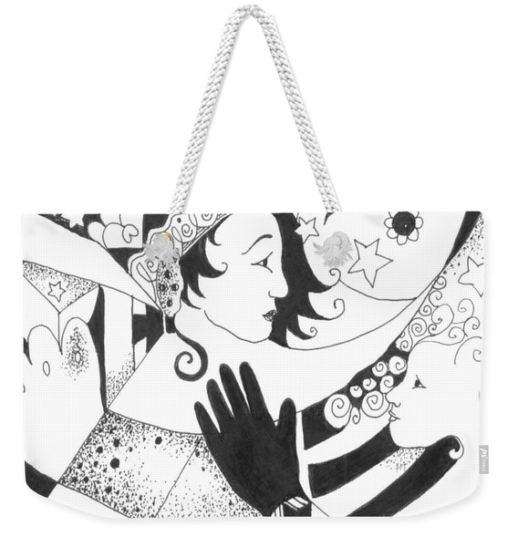 In Duality There Is No Light Without Dark Weekender Tote Bag