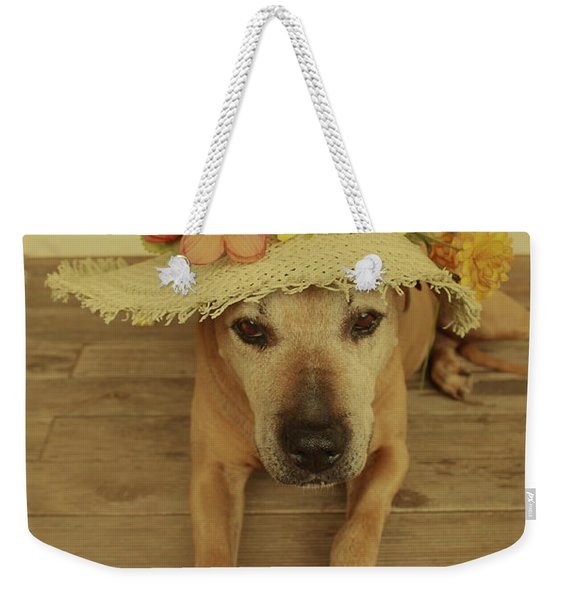 In Her Easter Bonnet Weekender Tote Bag